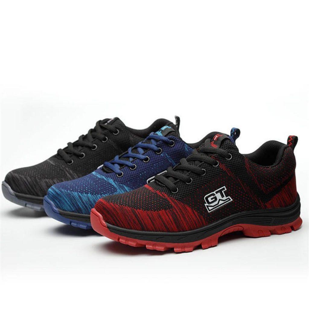कूपन, banggood, Tengo पुरुषों की सुरक्षा के जूते काम जूते स्टील पैर की अंगुली गैर पर्ची सांस जूते जूते