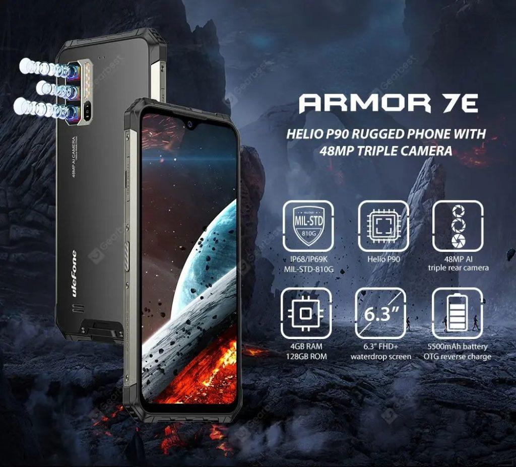 kupon, prasak, Ulefone Armor 7E Smartphone