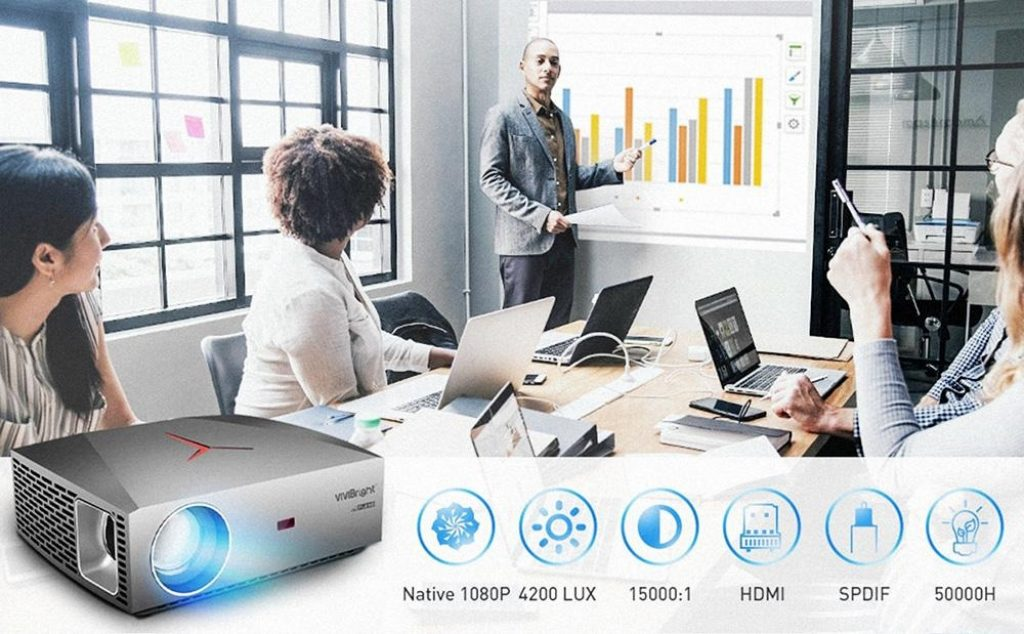 coupon, geekbuying, VIVIBRIGHT F40 Native 1080P LED Projector