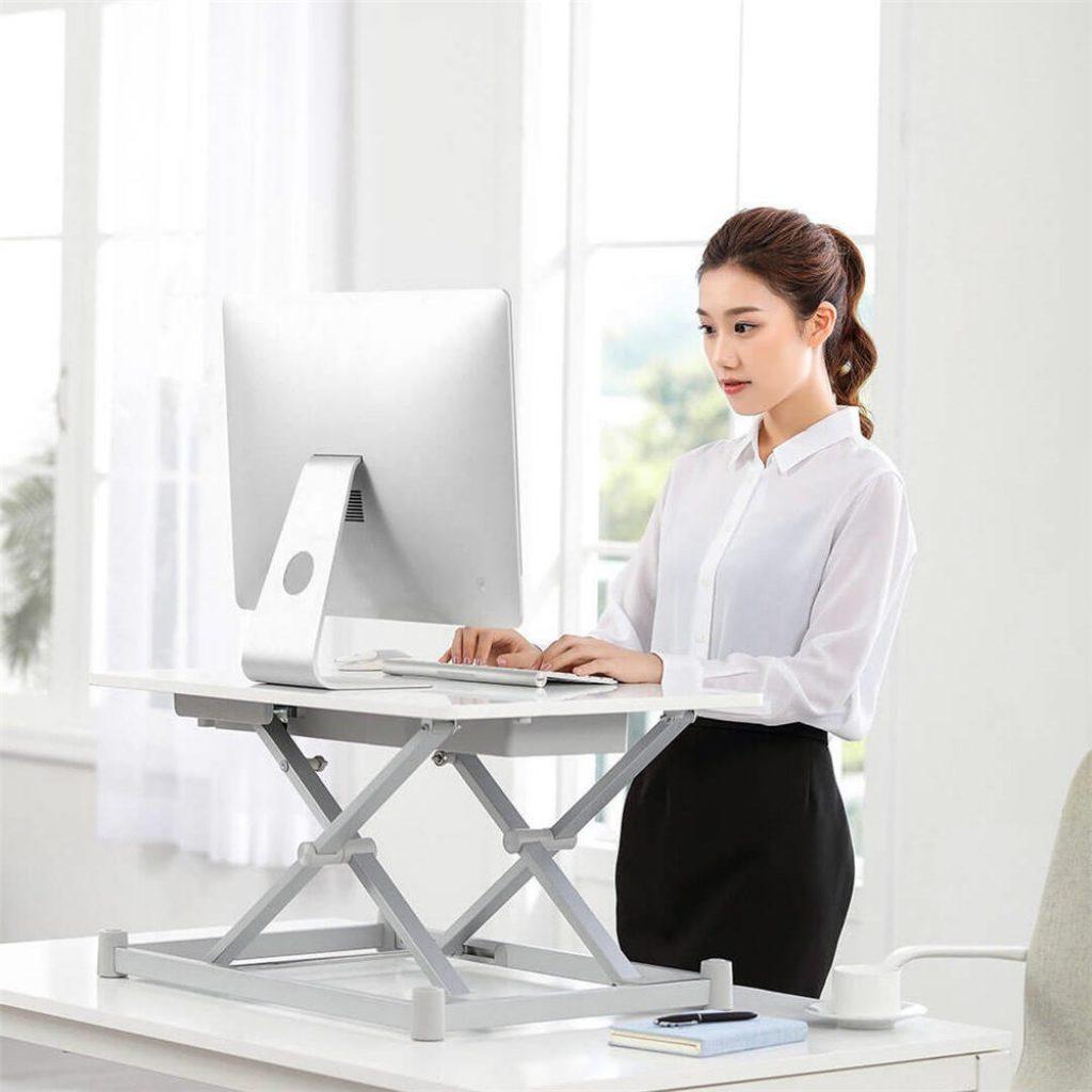kupong, banggood, XIAOMI Leband Elektrisk høyde Justerbar Standing Desk Sit-Stand Desk Laptop
