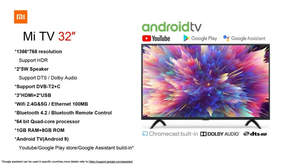 kupon, tomtop, Xiaomi 32 Inch 5G WiFi BT Mi TV