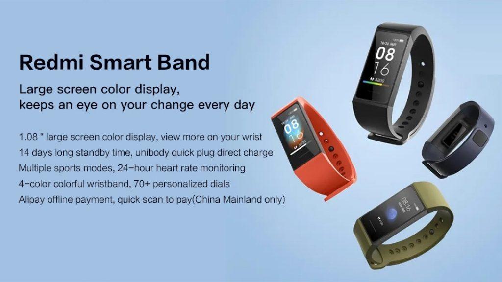 kupon, geekbuying, Xiaomi Redmi Band 1.08 inch Layar Sentuh Warna 5ATM Tahan Air 14 Hari Baterai Life Heart Rate Monitor