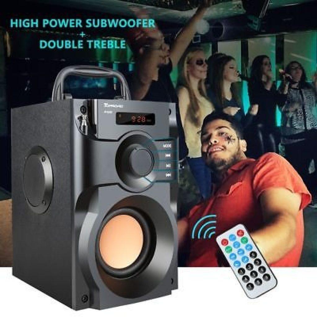 קופון, banggood, A100 אלחוטי bluetooth סאב וופר רמקול גדול בס רמקול גדול Boombox תיבת קול תמיכת FM TF AUX