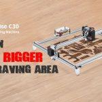kupong, gearbest, Alfawise C30 2500mw Stort område Ramme Lasergraveringsmaskin