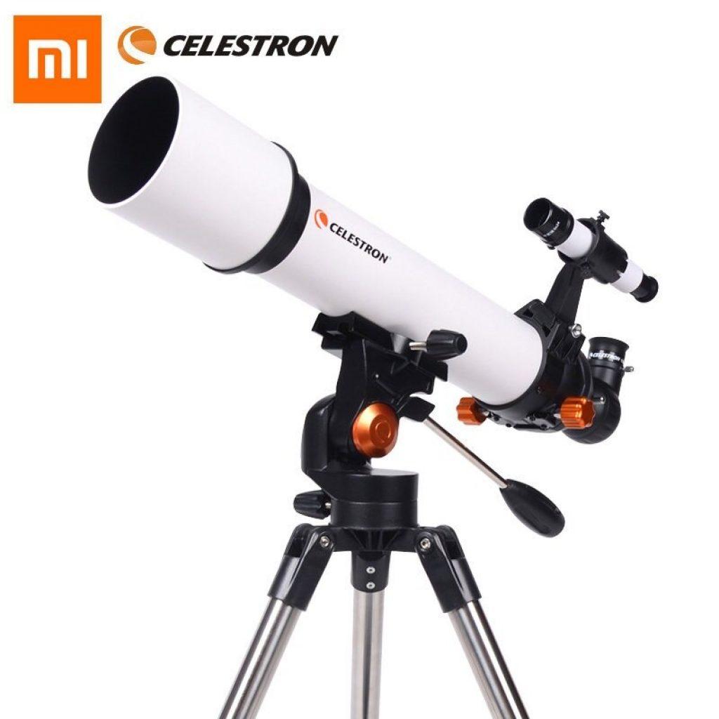 """קופון, banggood, CELESTRON SCTW-80 מ- Xiaomi Youpin HD זום שבירה טלסקופ אסטרונומי 80 מ""""מ קליבר Red Dot Finder הגדלה גבוהה שטח שטח משקפת"""