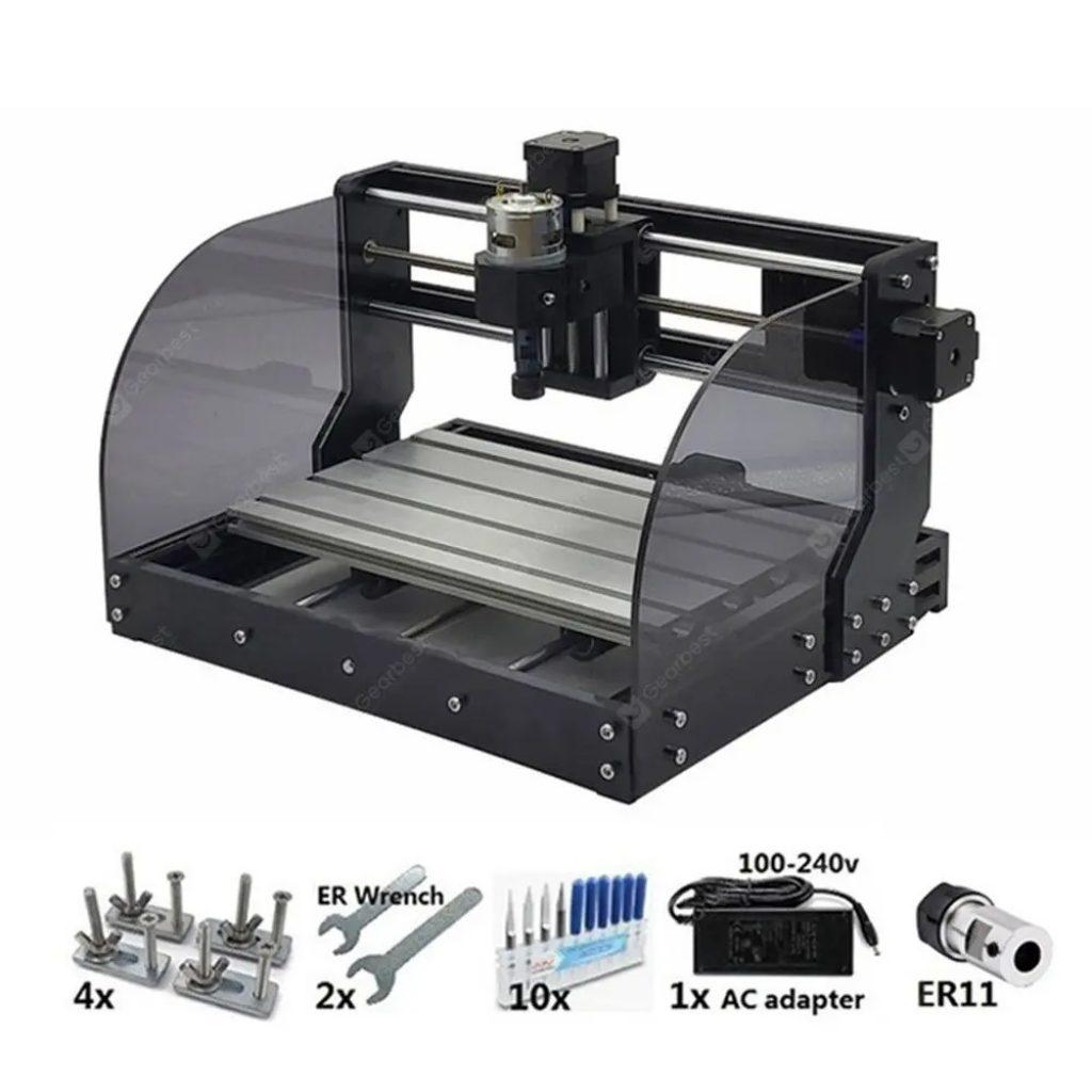 kupon, gearbest, Desktop Laser Engraving Machine CNC 3018 ProBM Wood CNC Router