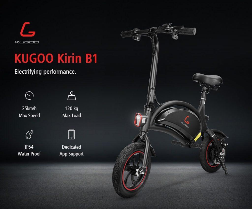 coupon, banggood, KUGOO Kirin B1 Folding Moped Electric Bike