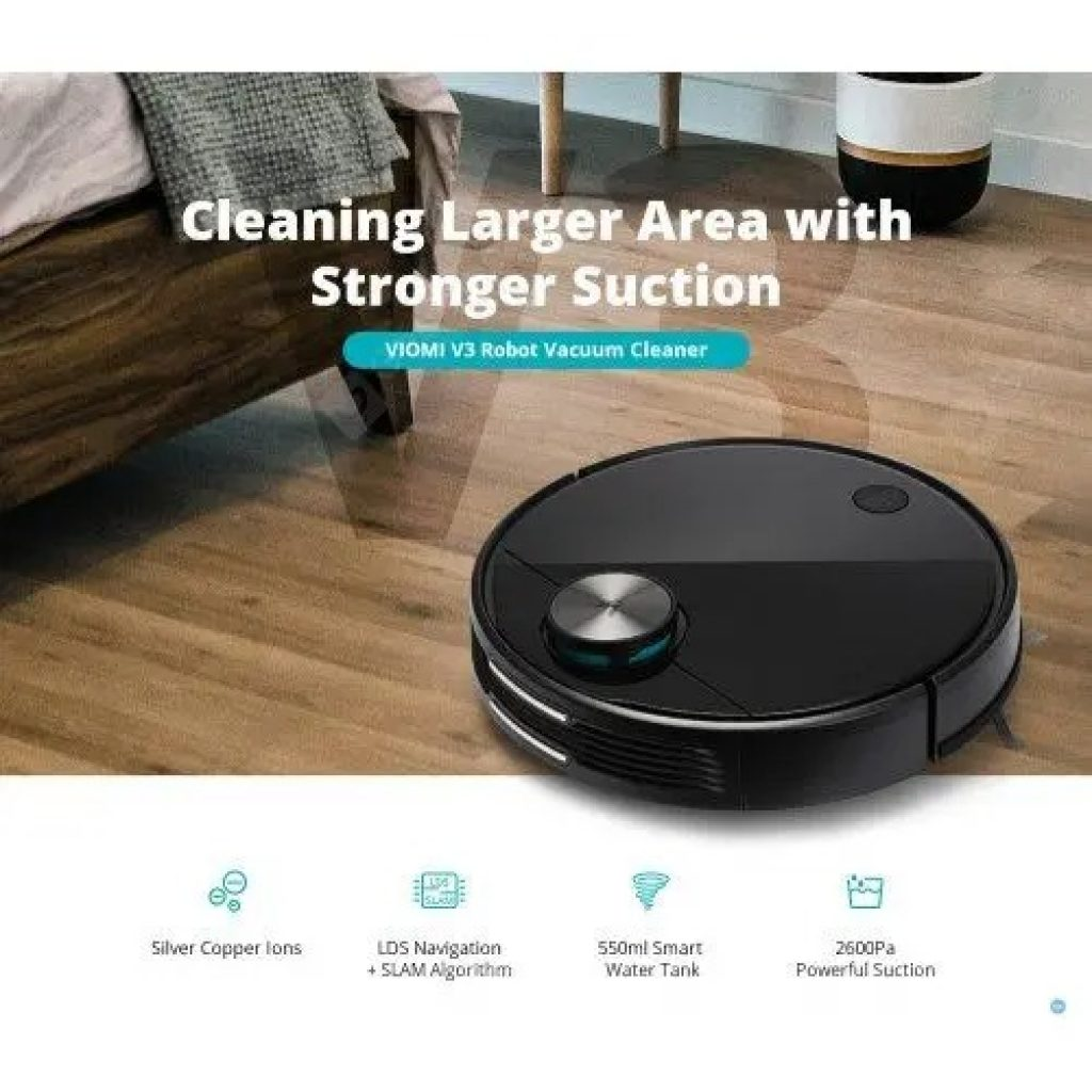 coupon, gearbest, VIOMI V3 LDS Laser Navigation Wet and Dry Robot Vacuum