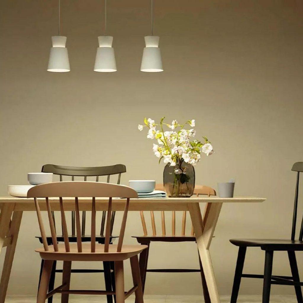 coupon, banggood, Yeelight YLDL05YL Three-head E27 Universal Dining Table Pendant Light Adjustable Chandelier APP Control