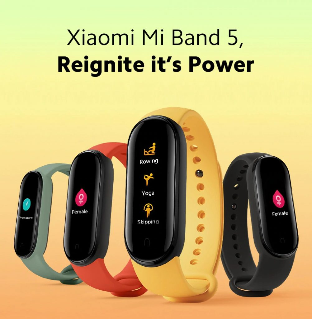 banggood, kupon, gearbest, Xiaomi-Mi-Band-5-Smart-Bracelet-1.2-inch-Color-Screen-Wristband