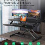 クーポン、banggood、BlitzWolf®-BW-ESD1-Pneumatic-Lifting-Table-Standing-Desk