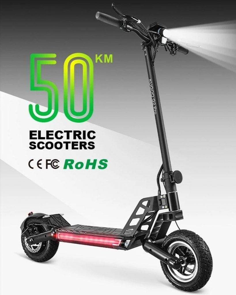 geekmaxi, κουπόνι, geekbuying, KUGOO-G2-Pro-Folding-Electric-Scooter-1