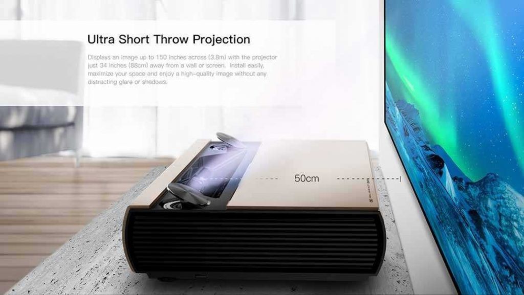 coupon, banggood, JMGO-SA-Ultra-Short-Throw-Laser-Projector-7000-Lumens-Android-2GB16GB-Beamer-2.4GHz5GHz-WiFi-Bluetooth4.0-3D-Home-Theater-Prejector