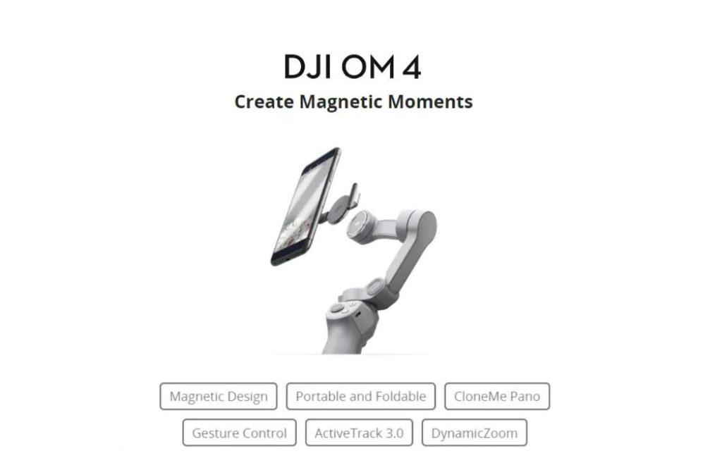 banggood, coupon, gearbest, DJI-OM-4-OSMO-4-3-Axis-Brushless-Stabilizer-Foldable-Handheld-Gimbal