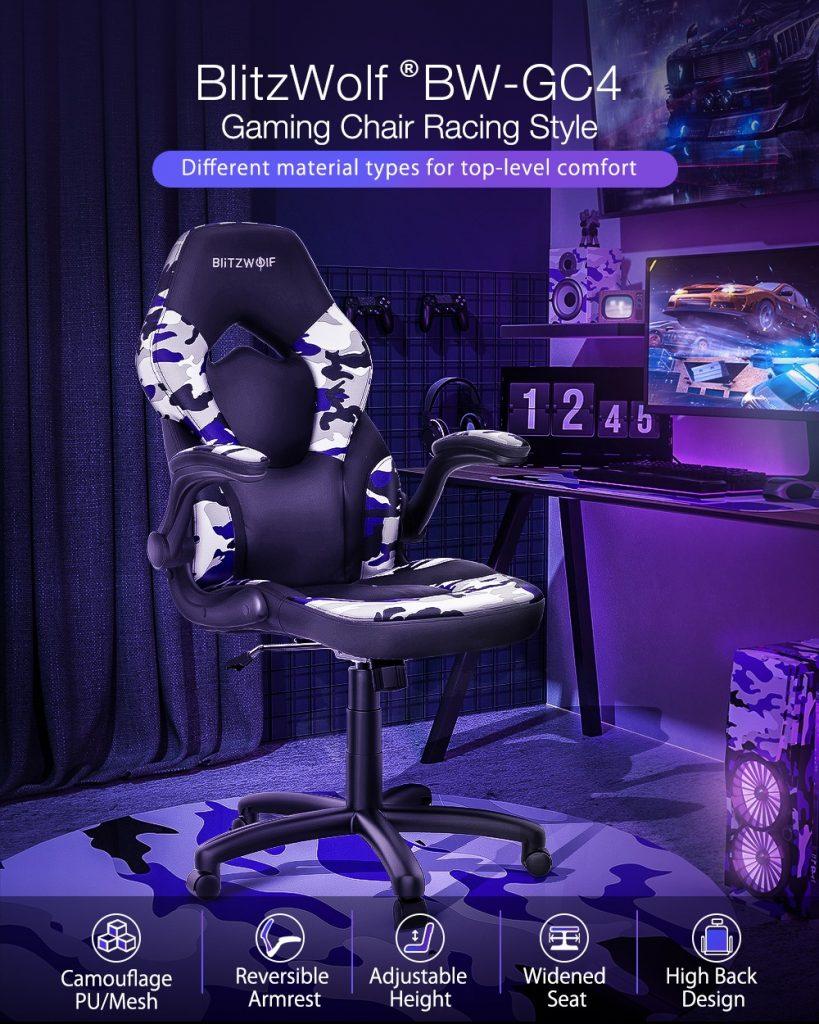 cupon, banggood, scaun BlitzWolf®-BW-GC4-Gaming