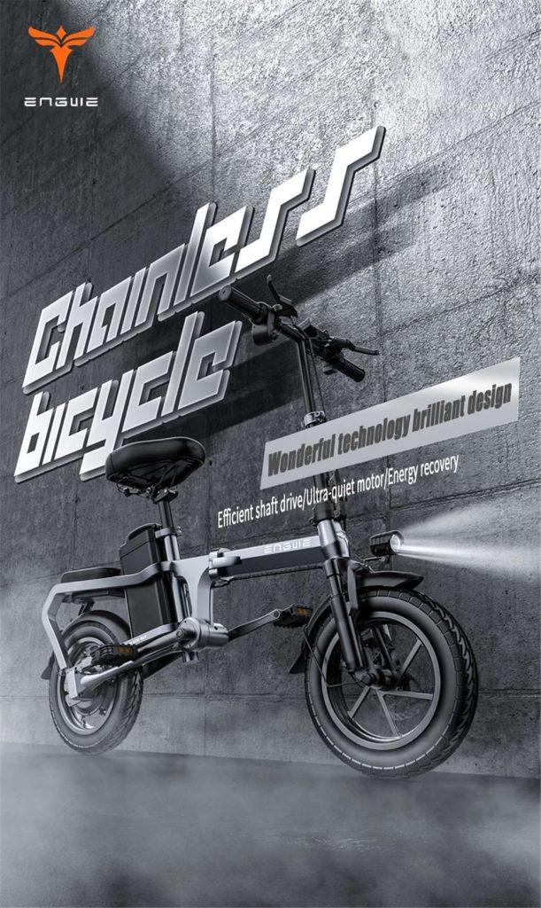 gearbest, kupon, banggood, ENGWE-X5S-15Ah-48V-350W-14in-Zincirsiz-Katlanır-Elektrikli Bisiklet