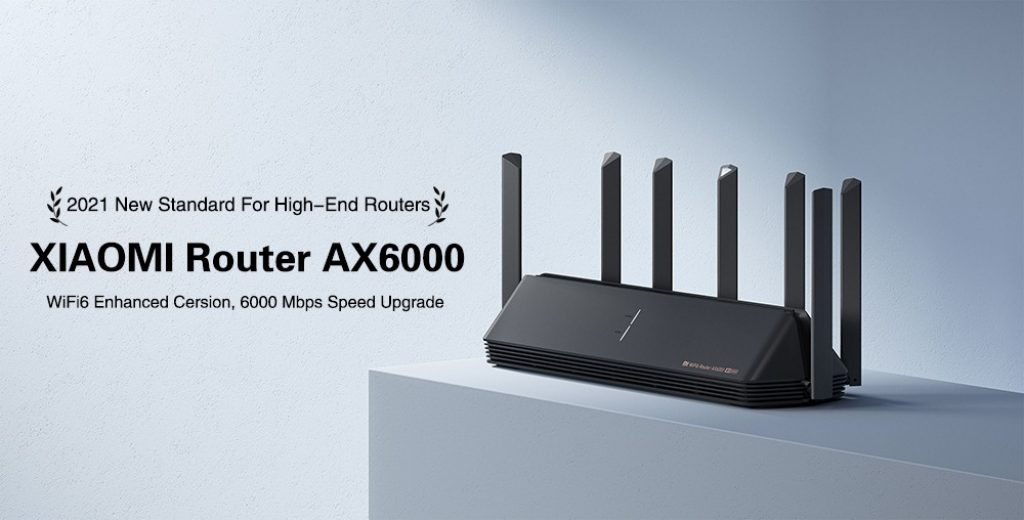 banggood, cupom, geekbuying, 2021-Xiaomi-AIoT-Router-AX6000-WiFi-6-Enhanced-Edition