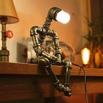 coupon, tomtop, Creative-Iron-Pipe-Industrial-Loft-Retro-Style-Coffee-Bar-Robot-Water-Pipe-Table-Lamp
