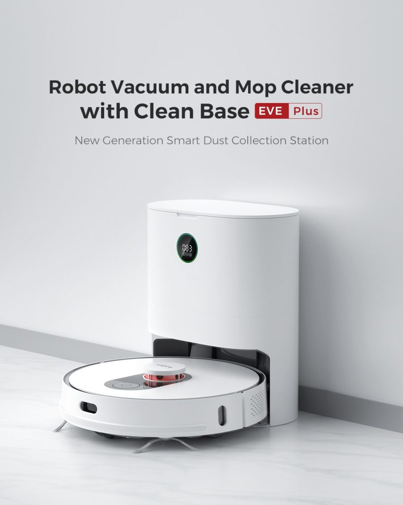 geekbuying, купон, banggood, ROIDMI-EVE-Plus-Robot-пылесос