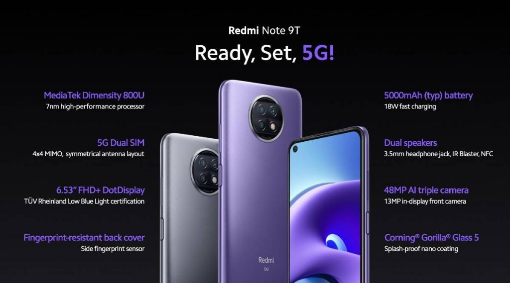 banggood, kupon, gearbest, Xiaomi-Redmi-Note-9T-5G-Smartphone
