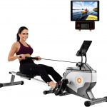 coupon, geekbuying, Folding-Rowing-Machine-LCD-Display-Tablet-Shelf-8-Levels-Resistance-Smooth-belt-drive