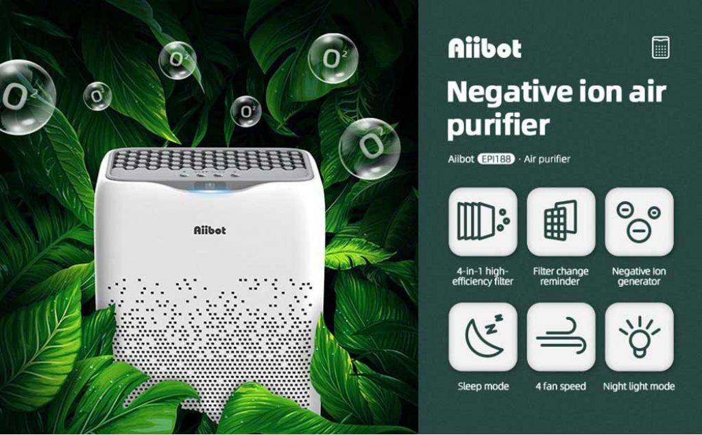 geekmaxi, kupon, geekbuying, Aiibot-EPI188-Dvostruki filter-pročiščivač zraka