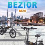 banggood, קופון, geekbuying, BEZIOR-M20-מתקפל-אופניים חשמליים