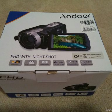 Andoer HDV-302S 3.0 Inch LCD Screen 1080P 30FPS 20MP DV Camera Hands on Review(Coupon Avails)