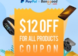 Paypal Exlusive!! $12 OFF Coupon for All Products from BANGGOOD TECHNOLOGY CO., LIMITED