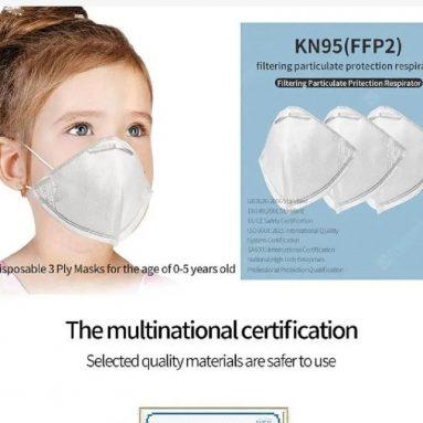 € 46 dengan kupon untuk 10Pcs Anak Pakai 3 ply KN95 FFP2 Masker untuk Anak di bawah 6 tahun - Germany Warehouse dari GEARBEST