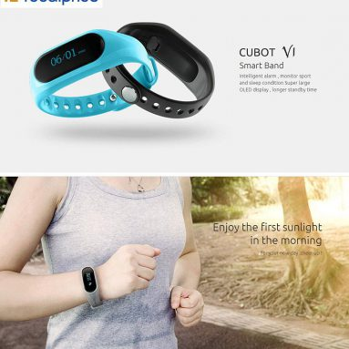 Sadece 15.59 $ İndirim - Cubot V1 Bluetooth 4.0 IP65 Smartband, EXP: focalprice Technology Co.Ltd'den 4 Mart