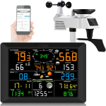 €135 with coupon for 14-in-1 Professional WiFi Weather Station Internet Wireless Weather Station with Outdoor Sensor Weather Forecast Temperature Air Pressure Humidity Wind Gauge Rain Gauge Moon Phrase Alarm Clock from BANGGOOD