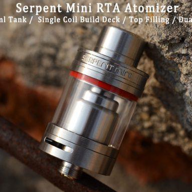 GearBest gelen Orijinal Wotofo Yılan Mini RTA Atomizer için $ 17.99 KUPON