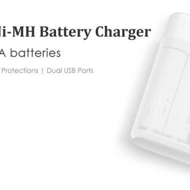 $ 9.99 קופון FlashSale עבור Xiaomi ZI5 AA AAA Ni-MH סוללה מטען USB מ GearBest