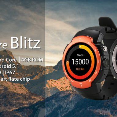 GearBest gelen sadece Zeblaze Blitz 89.99G Smartwatch Telefon için $ 3