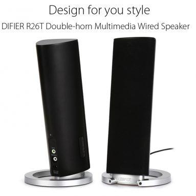EDIFIER R45.99T için COUPON ile $ 26 GearBest gelen Çift boynuz Multimedya Kablolu Hoparlör