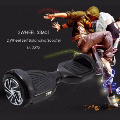 $ 9.00 הנחה על קופון עבור 2WHEELS S3601 2 גלגל איזון עצמי סקוטר מ GearBest