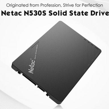 $ 75 s kuponem pro systém Netac N530S 240GB Solid State Drive Black od společnosti GearBest