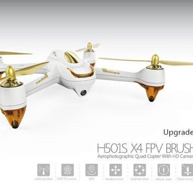 Hubsan H189S X501 ब्रशलेस ड्रोन के लिए कूपन के साथ $ 4 - उन्नत संस्करण - गियरबेस्ट से यूरोपीय संघ PLUG