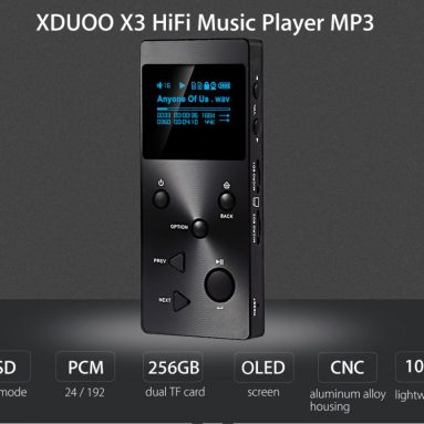 $ 36 av COUPON for XDUOO X3 HiFi Lossless Music Player MP3 fra GearBest
