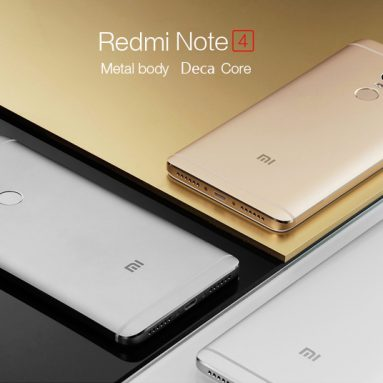 $155 with coupon for Xiaomi Redmi Note 4 4G Phablet  –  HK WAREHOUSE TD-LTE 64GB ROM  GOLDEN from Gearbest