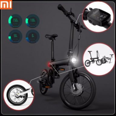 €566 with coupon for Xiaomi QiCYCLE EF1 Smart Bicycle BLACK from GearBest