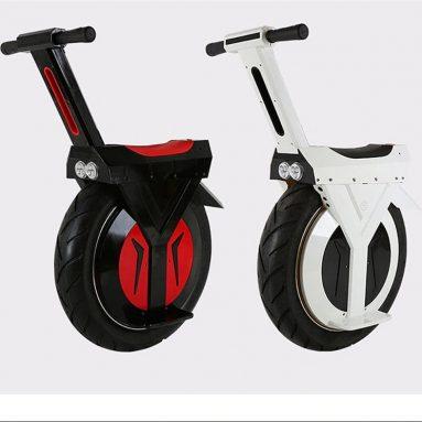€ 889 với phiếu giảm giá cho 17 Inch Một bánh xe máy Chống nước 500W Xe đạp điện tự cân bằng Monowheel - Trắng từ BANGGOOD