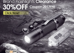 30% OFF Clearance for Falshlights from BANGGOOD TECHNOLOGY CO., LIMITED