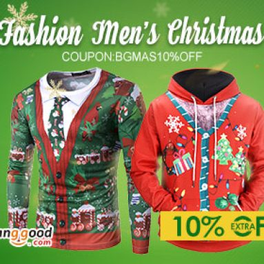 10% OFF for Men's Fashion Products from BANGGOOD TECHNOLOGY CO., LIMITED