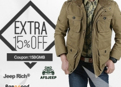 15% OFF for Mens Brand Clothing Promotion from BANGGOOD TECHNOLOGY CO., LIMITED