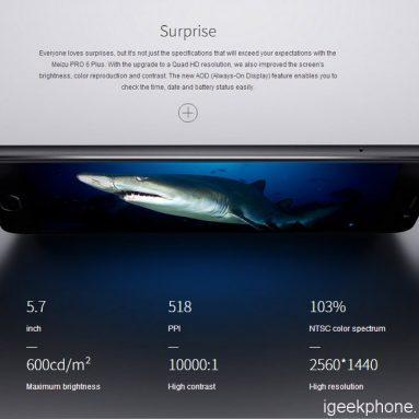 Cheapest Price Smartphone: Global Version:  MEIZU PRO 6 PLUS @209.99 @CooliCool Flash Sale