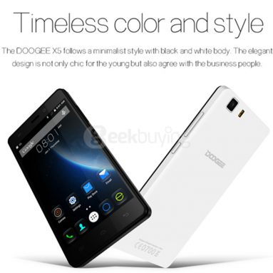 $ 6 off para sa DOOGEE X5 Pro Bundle mula sa Geekbuying