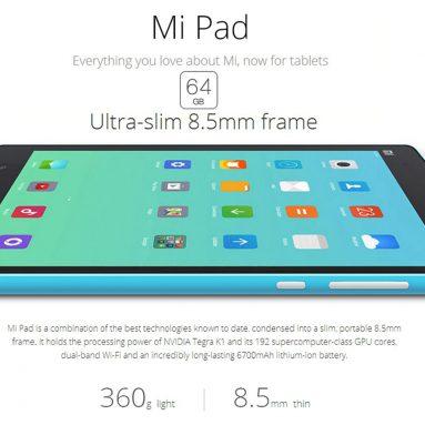 元XiaoMi Mi Pad 20 $ OFF GearBestの64GB ROM