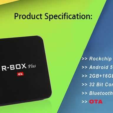 $40.99 with COUPON for R – Box Plus Smart TV Box from GearBest
